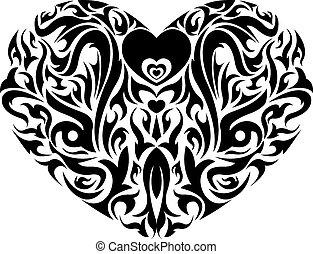 Vector - Floral heart shape design