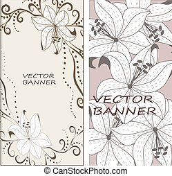 Vector floral lily background