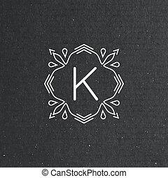 vector floral monogram
