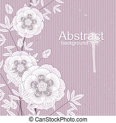 floral ornament - Vector floral ornament. Illustration with...