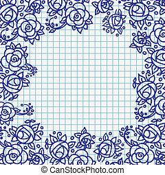 Vector floral ornamental frame