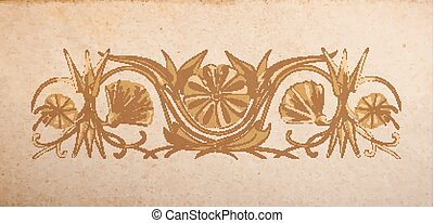 vector, floral, ornamento
