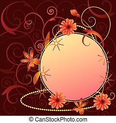 vector floral ornate frame