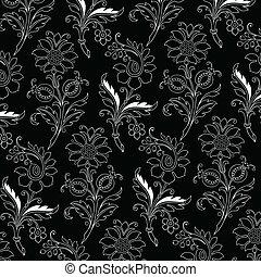Vector Floral Outline Pattern