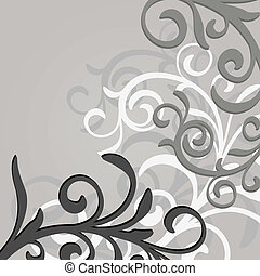vector, floral, patern