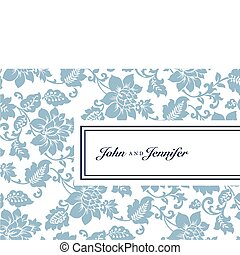 Vector Floral Pattern and Tag Frame
