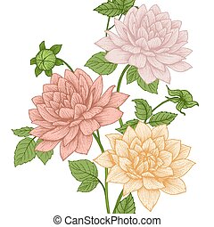 Vector floral pattern - Beautiful vector image with nice ...