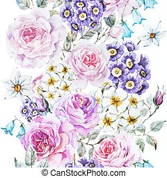 Vector floral pattern - Beautiful vector pattern with nice ...