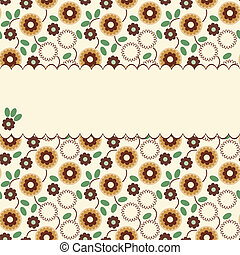 Vector floral pattern with a frame
