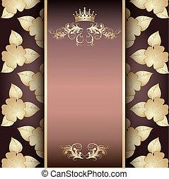 Vector floral retro royal
