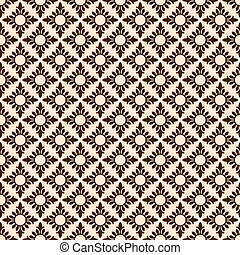 Vector floral seamless pattern background