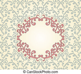 Vector Floral seamless Pattern with Floral frame for Your Text
