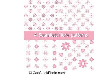 Vector Floral Seamless Patterns Set
