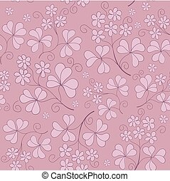 vector floral seamless texture with flowers