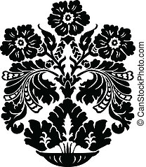 Vector Floral Vase Ornament
