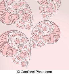 vector floral vintage background