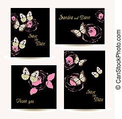 floral vintage cards