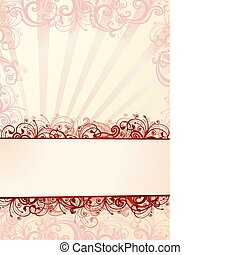 Vector floral wallpaper - Vector pink floral wallpaper with...