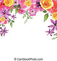 Vector Floral Watercolor Elelements