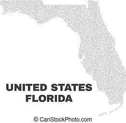 Vector Florida State Map of Points