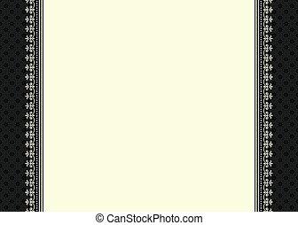 vector, florido, frontera, y, marco
