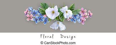 Vector flower arrangement