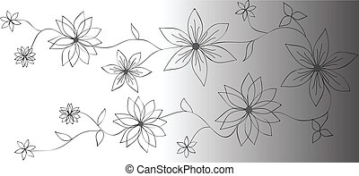 Vector flower banners.