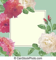 Vector Flower Card