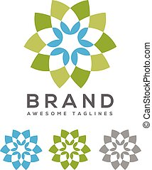 vector flower colorful logo