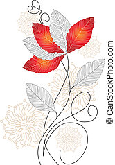 Vector flower for greeting card