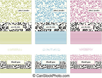 Vector Flower Frame Set