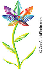 Vector flower on a white background