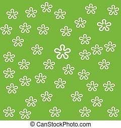 Vector flower on green background design