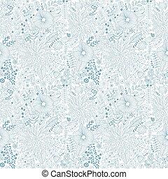 Vector flower pattern. Seamless botanic texture,