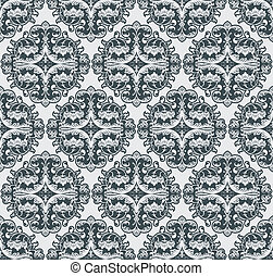 Vector flower pattern seamless