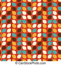 Vector flower pattern seamless on red background