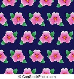 Vector flower pattern