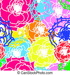 Vector flower seamless background