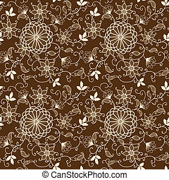 Vector flower seamless pattern