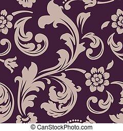 Vector flower seamless pattern element. Elegant texture for...