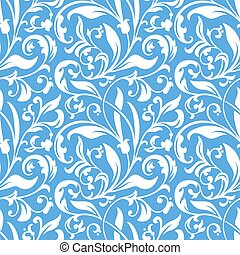 Vector flower seamless pattern background. Elegant texture...