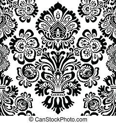 Vector Flower Seamless Pattern. Swatch is included. Easy to edit.