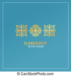 Vector flower shop logo