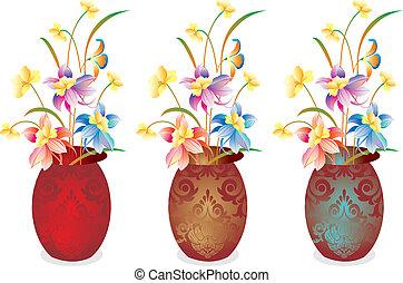 Vector flower vase