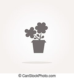 vector Flower web buttons for website or app isolated on white. Web Icon Art. Graphic Icon Drawing
