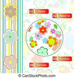 vector flower web template design