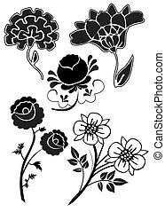 vector flowers 17