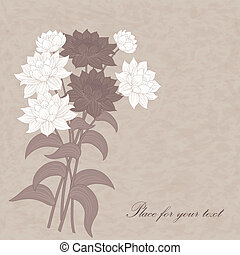 Vector flowers dahlia. - Beautiful vector bouquet with ...