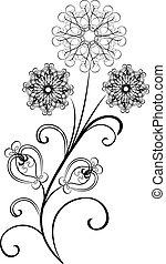 vector flowers flourishes