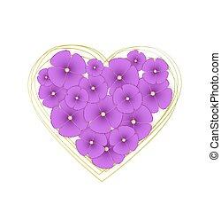 Vector flowers violets